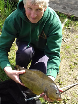 Andrew with tench